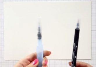 Aqua Painter & Blender Pen Techniques Video, Wendy Lee, stampin Up, #creativeleeyours, hand made, stamping, creatively yours, creative-lee yours, watercolor
