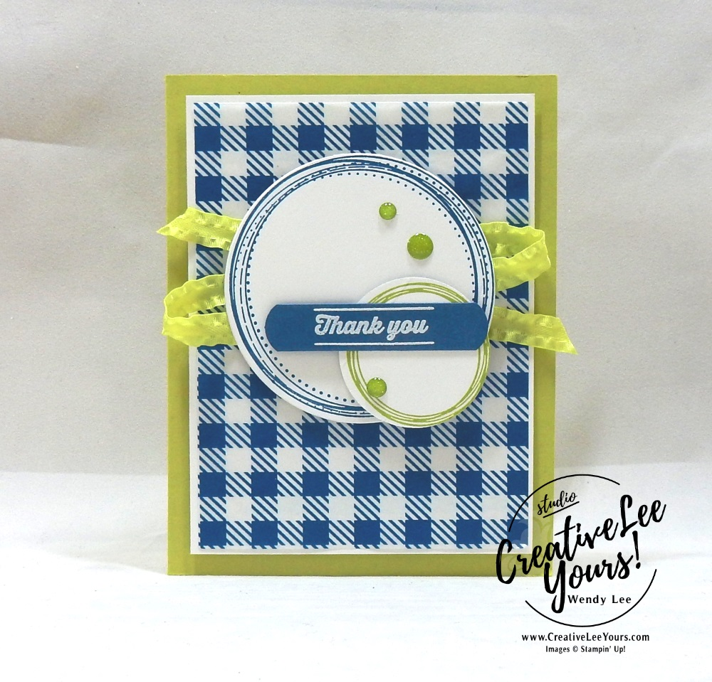 swirl frames stamp set, July 2018 picnic paradise Paper Pumpkin Kit, Thank You Swirls by wendy lee, stampin up, handmade cards, rubber stamps, stamping, kit, subscription, #creativeleeyours, creatively yours, creative-lee yours, birthday, friend, thank you, congrats, alternate, August 2018 FMN bonus card, forget me not, classes