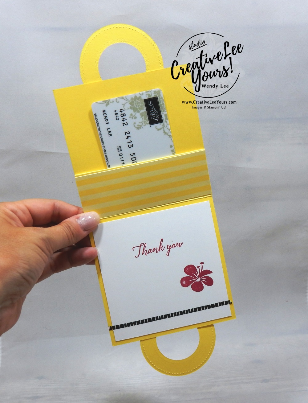 Tropical Gift Card Holder by Belinda Rodgers wendy lee, Stampin Up, stamping, handmade card, friend, thank you, birthday,  #creativeleeyours, creatively yours, creative-lee yours, diemonds team swap, tropical chic stamp set, SU, SU cards, rubber stamps, fun fold, gifts