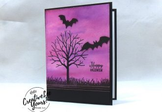 Halloween Bats by Jennifer Hamlin, wendy lee, Stampin Up, stamping, handmade card, kids, #creativeleeyours, creatively yours, creative-lee yours, diemonds team swap, spooky sweets stamp set, sheltering tree, SU, SU cards, rubber stamps
