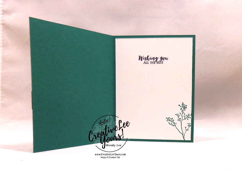 Frosted Floral Card Class by wendy lee, Stampin Up, #creativeleeyours, wendy lee, creatively yours, creative-lee yours, stamping, paper crafting, handmade, occasion cards, online class, SU, wedding, congratulations, holiday, Kylie's International Highlights Blog Hop