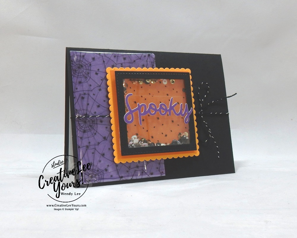 September 2018 Frights & Delights Paper Pumpkin Kit by wendy lee, stampin up, handmade cards, Halloween treats, rubber stamps, stamping, kit, subscription, #creativeleeyours, creatively yours, creative-lee yours, birthday, friend, thank you, congrats, video, bonus tutorial, alternate projects, fun kids projects, fast & easy, DIY, ghost, pumpkin, bats, shaker