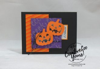 September 2018 Frights & Delights Paper Pumpkin Kit by wendy lee, stampin up, handmade cards, Halloween treats, rubber stamps, stamping, kit, subscription, #creativeleeyours, creatively yours, creative-lee yours, birthday, friend, thank you, congrats, video, bonus tutorial, alternate projects, fun kids projects, fast & easy, DIY, ghost, pumpkin, bats