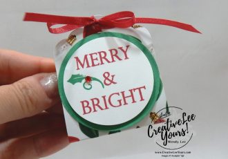 Merry & Bright Treat Holder by wendy lee, Be Merry Bingo night, Stampin Up, stamping, handmade, treat holder, party favor, holiday, christmas, #creativeleeyours, creatively yours, creative-lee yours, SU, SU cards, rubber stamps, paper crafting, Merry Christmas to All stamp set, Merry Christmas, Happy Holidays, DIY, fast and easy, #simplestamping