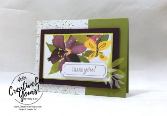 August 2018 Blissful Blooms Paper Pumpkin Kit by wendy lee, stampin up, handmade cards, floral, rubber stamps, stamping, kit, subscription, #creativeleeyours, creatively yours, creative-lee yours, birthday, friend, thank you, congrats, alternate projects, fast & easy, DIY, wedding, thank you