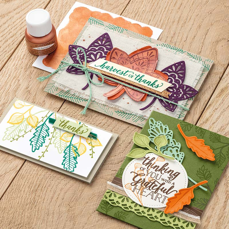Falling for Leaves Bundle,Stampin' Up!, Video, Wendy Lee, stampin Up, #creativeleeyours, hand made, stamping, SU, creatively yours, creative-lee yours, product tips, paper crafting, DIY, fall, leaves, thanksgiving, place cards