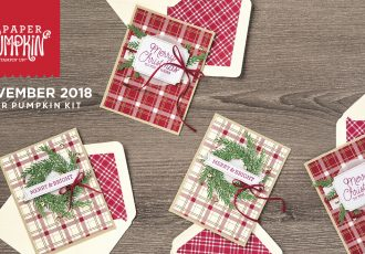 November 2018 To You and Yours Paper Pumpkin Kit by wendy lee, stampin up, handmade cards, rubber stamps, stamping, kit, subscription, #creativeleeyours, creatively yours, creative-lee yours, holiday, christmas, video, bonus tutorial, fast & easy, DIY, plaid, masculine, #simplestamping