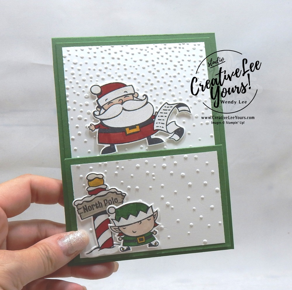 Santa's List Easel by aimee smith, wendy lee, Stampin Up, stamping, handmade card, #creativeleeyours, creatively yours, creative-lee yours, diemonds team, signs of santa stamp set, SU, SU cards, rubber stamps, demonstrator, DIY, christmas, business opportunity, easel fun fold