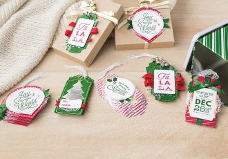Sincerely Santa Project Kit, Stampin Up, #creativeleeyours, wendy lee, creatively yours, creative-lee yours, stamping, paper crafting, handmade, fast & easy holiday tags, DIY, gift tags, video, present, #simplestamping