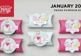January 2019 Be Mine Valentine Paper Pumpkin Kit by wendy lee, stampin up, handmade cards, rubber stamps, stamping, kit, subscription, #creativeleeyours, creatively yours, creative-lee yours, treat box, video, bonus tutorial, fast & easy, DIY, #simplestamping, animal outing
