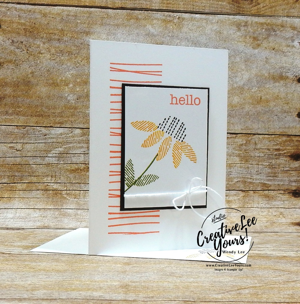 December 2018 Day by Day Paper Pumpkin Kit by wendy lee, stampin up, handmade cards, rubber stamps, stamping, kit, subscription, #creativeleeyours, creatively yours, creative-lee yours, daisy, alternate, bonus tutorial, fast & easy, DIY, #simplestamping