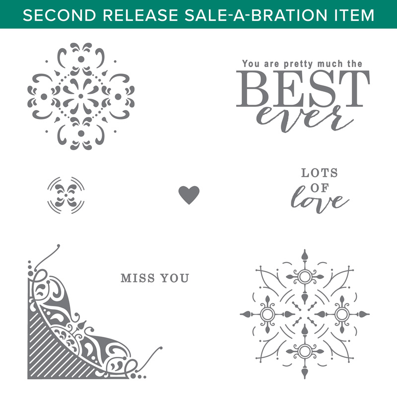 All Adorned stamp set, wendy lee, Stampin Up, #creativeleeyours, creatively yours, creative-lee yours, SU, DIY, paper craft, video, product tips, product highlights, anniversary, together, love, miss you, best, borders, patterns, stamparatus, stamp placement tool, misti