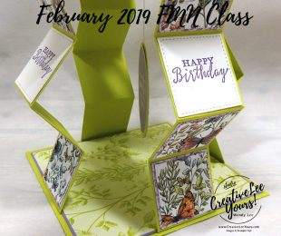 Pop-Up Accordion by Wendy Lee, Tutorial, card club, stampin Up, SU, #creativeleeyours, hand made card, friend, fun fold, pop up, stamping, creatively yours, creative-lee yours, detailed with love stamp set, SAB, DIY, FMN, forget me knot, February 2019, class, Sale-a-bration, botanical butterflies