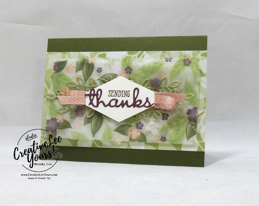 Stampers Showcase blog hop, sending thanks by wendy lee, Stampin Up, stamping, handmade card, friend, thank you, #creativeleeyours, creatively yours, creative-lee yours, SU, SU cards, rubber stamps, demonstrator, business, DIY, blog hop, printable tutorial, casing catalog, well said stamp set, well written framelit