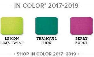 Retiring In Color, wendy lee, Stampin Up, stamping, 2017-2019 In-Colors, goodbye, powder pink, tranquil tide, berry burst, lemon lime twist, fresh fig, #creativeleeyours, creatively yours, creative-lee yours, SU, SU cards, rubber stamps, paper crafting, all occasions, DIY