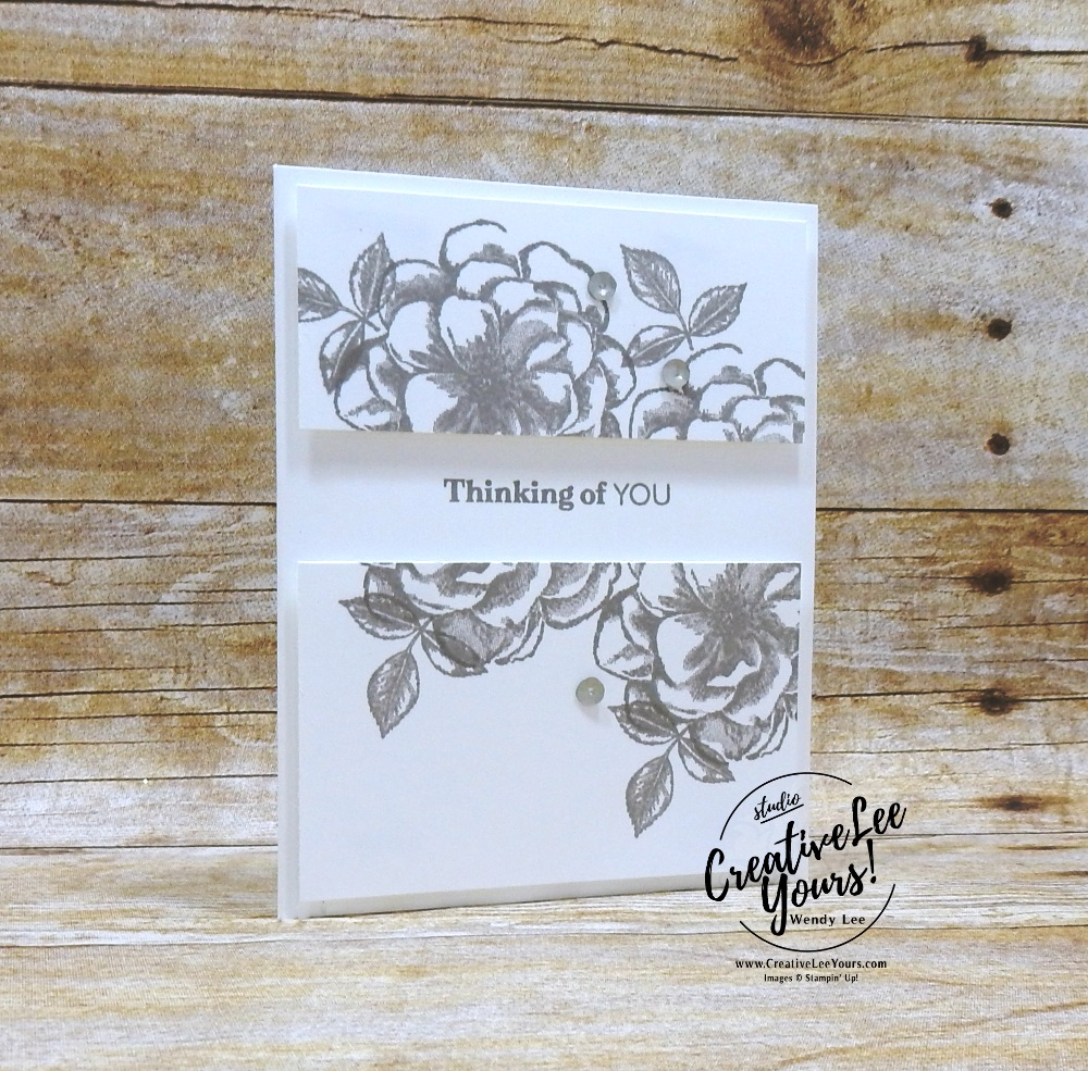 April 2019 Sentimental Rose Paper Pumpkin Kit by wendy lee, stampin up, handmade cards, rubber stamps, stamping, kit, subscription, #creativeleeyours, creatively yours, creative-lee yours, birthday, celebration, graduation, anniversary, alternate, bonus tutorial, fast & easy, DIY, #simplestamping, distinktive, flowers, roses