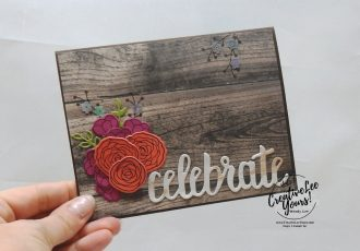 Celebrate Wonderful You by Wendy Lee, Tutorial, stampin Up, SU, #creativeleeyours, hand made card, stamping, creatively yours, creative-lee yours, cake soiree stamp set, celebrate you dies, sweet cake framelits, DIY, flowers, teacher, secretary, mothers day, butterfly, birthday, woodgrain, #patternpaper, flowers