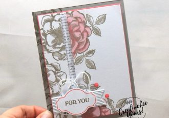 April 2019 Sentimental Rose Paper Pumpkin Kit, Split Layers Spotlighting by wendy lee, stampin up, SU, handmade cards, rubber stamps, stamping, kit, subscription, #creativeleeyours, creatively yours, creative-lee yours, mother's day, congratulations, thank you, birthday, wishes, video, bonus tutorial, fast & easy, DIY, #simplestamping, roses, distinktive, mom, paper crafting, spotlighting technique, coloring with blends