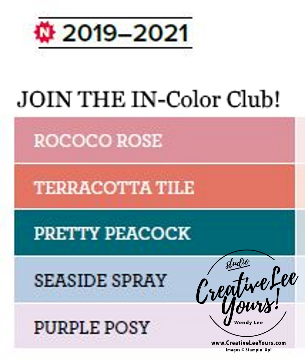 2019 2020 annual catalog, 2019-2021 In Colors, club, Wendy Lee, stampin up, papercrafting, #creativeleeyours, creativelyyours, creative-lee yours, SU, #loveitchopit, pattern paper, accessories, one sheet wonder, stampin up, DSP, ink, new colors