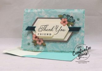 May 2019 Hug's from Shelli Paper Pumpkin Kit by wendy lee, stampin up, handmade cards, rubber stamps, stamping, kit, subscription, #creativeleeyours, creatively yours, creative-lee yours, birthday, celebration, graduation, anniversary, alternate, bonus tutorial, fast & easy, DIY, #simplestamping, limited edition, birds, collectible, spring, elegant, feminine, video, card kit, feathers