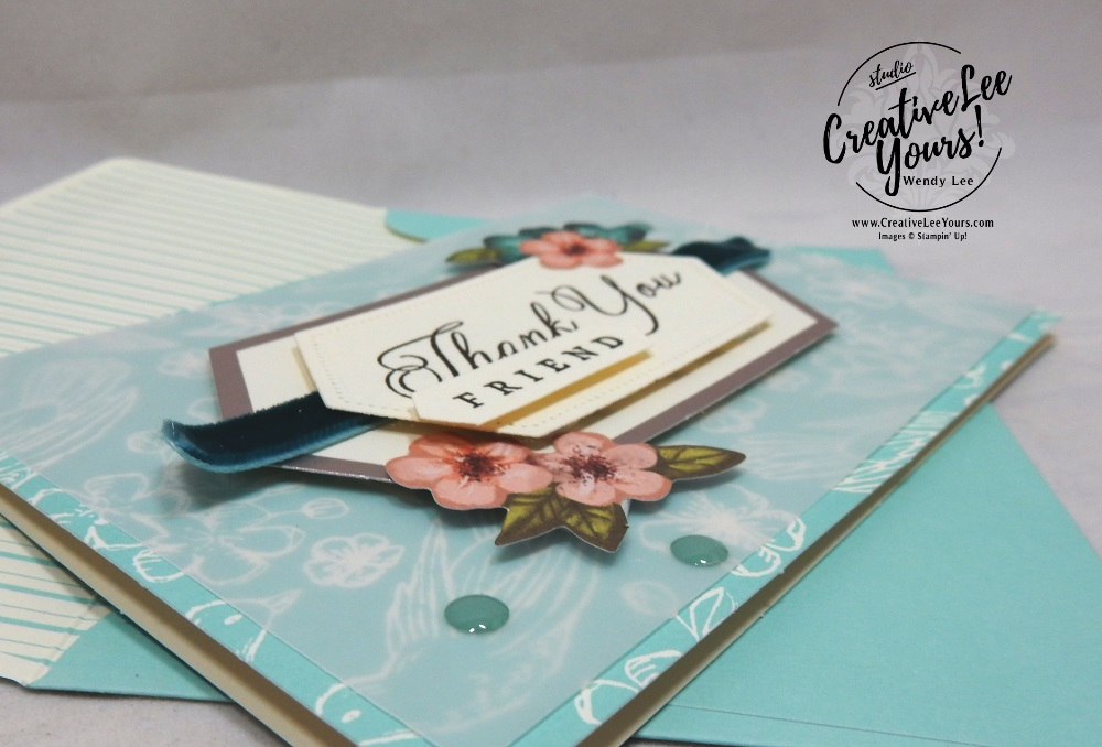 May 2019 Hug's from Shelli Paper Pumpkin Kit by wendy lee, stampin up, handmade cards, rubber stamps, stamping, kit, subscription, #creativeleeyours, creatively yours, creative-lee yours, birthday, celebration, graduation, anniversary, alternate, bonus tutorial, fast & easy, DIY, #simplestamping,limited edition, birds, collectible, spring, elegant, feminine, video, card kit, feathers