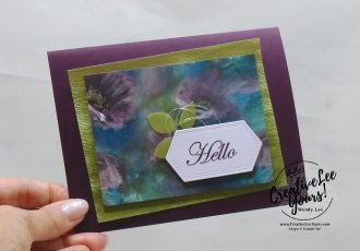Hello by wendy lee, Stampin Up, #creativeleeyours, creatively yours, creative-lee yours, stamping, paper crafting, handmade, all occasion cards, class, friend, good morning magnolia stamp set, international highlights, kylie bertucci, card contest, encouragement, embossing, flowers, nested labels dies, DSP, patternpaper, watercoloring, perennial essence, leaf punch, winner hop