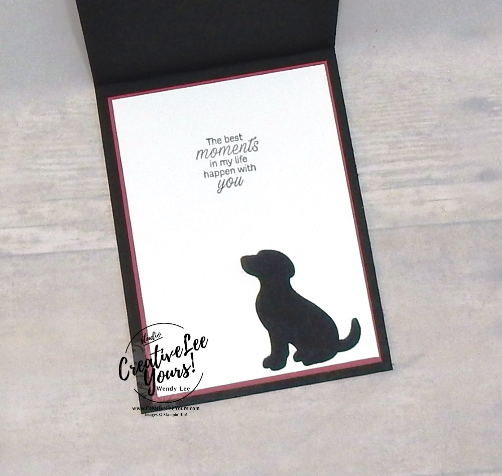 Hey Friend by Wendy Lee, Tutorial, stampin Up, SU, #creativeleeyours, hand made card, friend, birthday, hello, thanks, dog, puppy celebration, stamping, creatively yours, creative-lee yours, daisy lane stamp set, itty bitty greetings stamp set, dog builder punch, DIY, texture