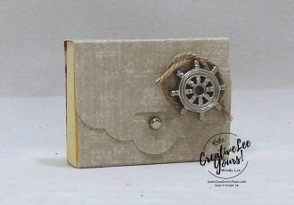 Mini Post-it by wendy lee, stampin up, SU, stamping, papercrafting, #creativeleeyours, creativelyyours, creative-lee yours, sailing home stamp set, SU, business opportunity, DIY, fellowship, rubber stamps, hand made, tutorial, bingo event, friend, birthday, hello, nautical, masculine, journey, maritime, bingo, event