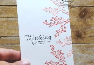 Thinking Of You Coral by wendy lee, stamping off, stampin up, papercrafting, #creativeleeyours, creativelyyours, creative-lee yours, SU, seahorse, beach, shell, coral, summer fun, stampin up, thank you, gratitude, get well, encouragement, birthday, masculine
