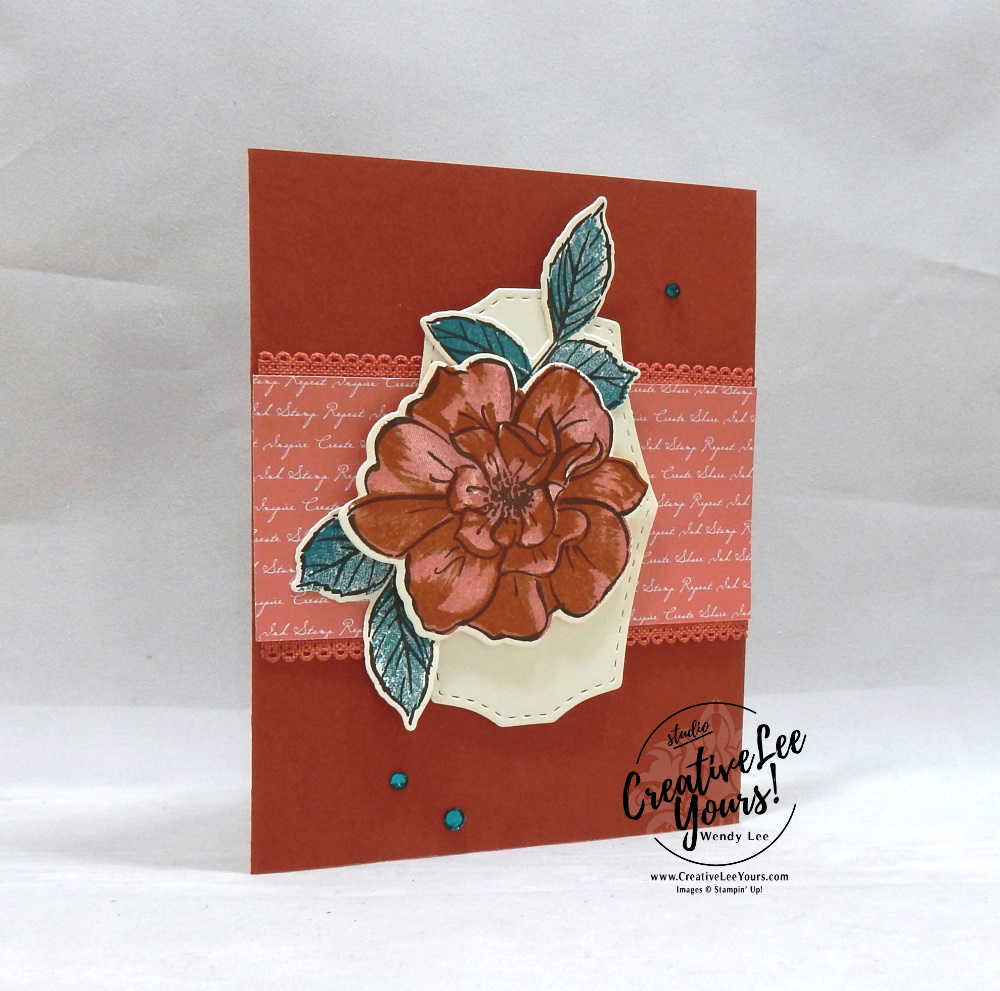 True Friendship by wendy lee, 2019 2020 annual catalog, 2019-2021 In Colors, club, Wendy Lee, stampin up, papercrafting, #creativeleeyours, creativelyyours, creative-lee yours, SU, pattern paper, accessories, 2 step stampng, 3 step stamping, rose, fall, flowers, stampin up, DSP, ink, new colors, tutorial