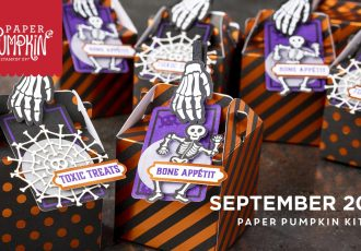 Wendy Lee, October 2019 Paper Pumpkin Kit, stampin up, handmade cards, rubber stamps, stamping, kit, subscription, #creativeleeyours, creatively yours, creative-lee yours, halloween, celebration, smile, thank you, grateful amazing, alternate, bonus tutorial, fast & easy, DIY, #simplestamping, card kit, tags, holiday, bones, skeleton, masculine, treats
