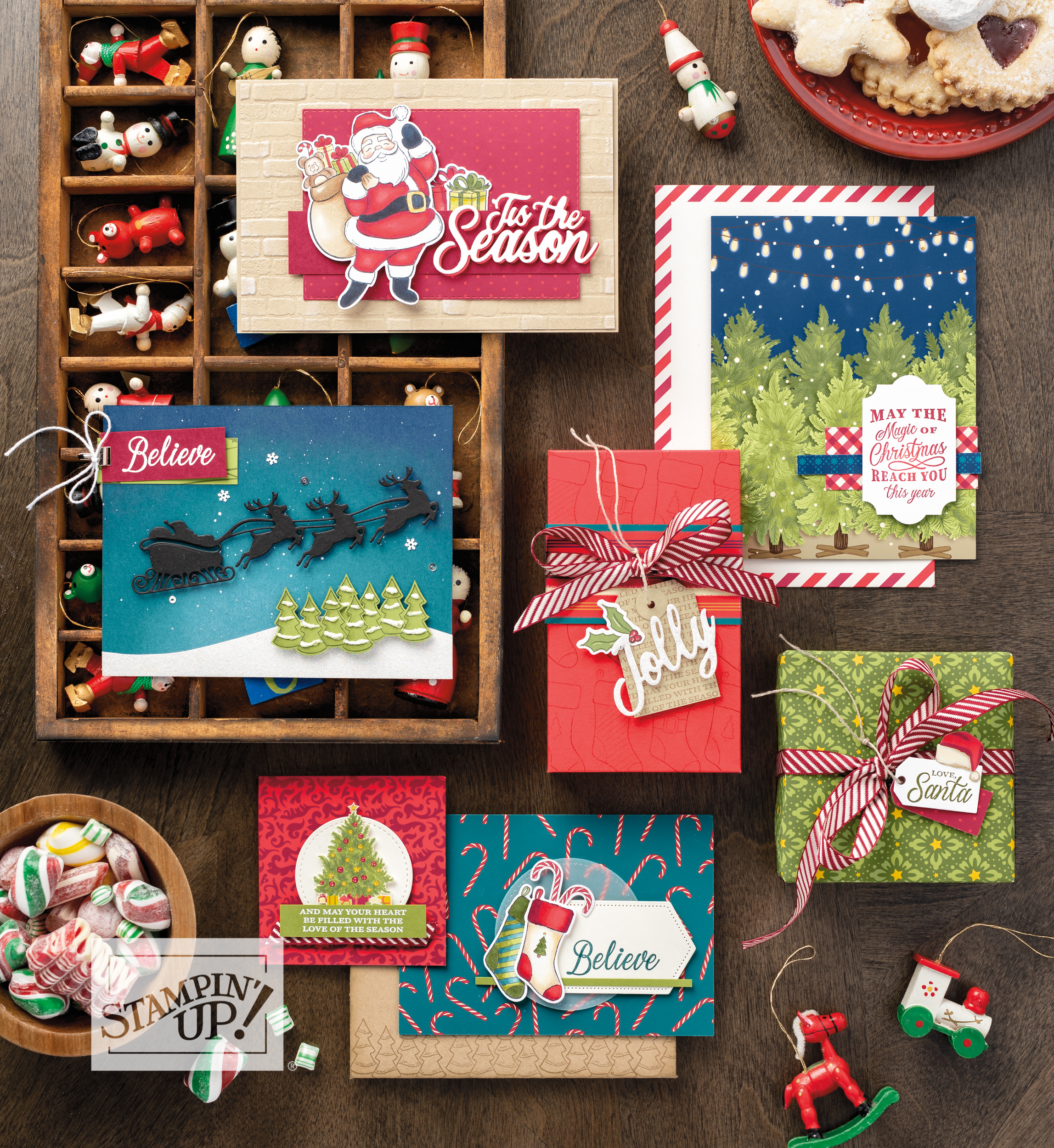Night Before Christmas Suite with Wendy Lee, stampin Up, SU, #creativeleeyours, hand made card, tags, gifts, package, treats, journal, friend, birthday, hello, thanks, celebration, best wishes,christmas, holiday, kindness, creatively yours, creative-lee yours, DIY, pattern paper, santa, candy cane, stocking, fast & easy, scrapbooking, memories