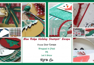 Blue Ridge Holiday Stampin' Escape, retreat, class, online, holiday, stamping, SU, patternpaper, creativeleeyours, creative-lee yours, creatively yours, DIY, handmade, rubber stamps, bundle, tutorial, #patternpaper