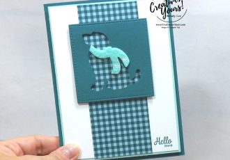 Hello There by wendy lee, 2019 2020 annual catalog, 2019-2021 In Colors, club, Wendy Lee, stampin up, papercrafting, #creativeleeyours, creativelyyours, creative-lee yours, SU, pattern paper, accessories, stampin up, DSP, ink, new colors, tutorial, birthday, celebration, pretty peacock, dog builder punch, winter, Here's a card stamp set, friend