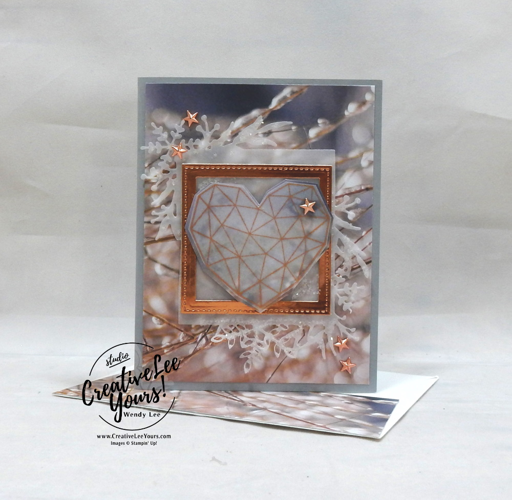 In My Heart by Wendy Lee, stampin Up, SU, #creativeleeyours, hand made card, technique, hearts, friend, birthday, hello, thanks, celebration, encouragement, dreams, stamping, creatively yours, creative-lee yours, modern heart stamp set, DIY, stitched shapes, dies, gratitude, frosted frames dies, stars, glitter, international hightlights, kylie bertucci