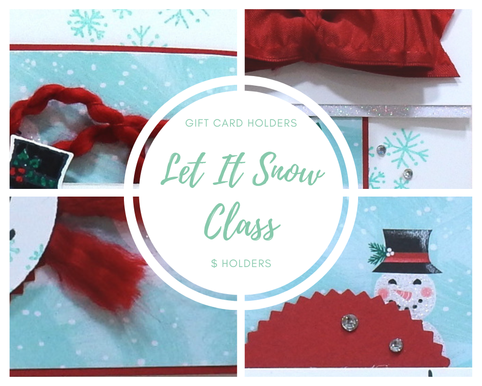 Let It Snow Gift Card Holder by wendy lee, Stampin Up, stamping, handmade card, winter, Christmas, gift, #creativeleeyours, creatively yours, creative-lee yours, SU, SU cards, rubber stamps, paper crafting, all occasions, DIY, snowman season stamp set, snowman,  Gift Cards Online Class, tutorial, card club, party