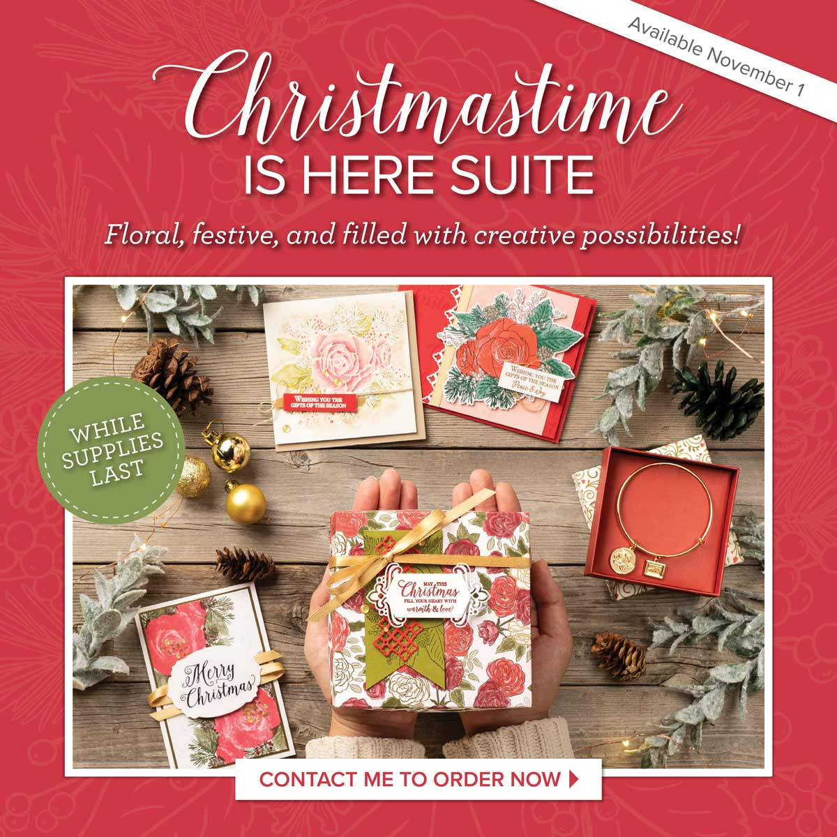 Christmas Time Is Here Suite with Wendy Lee, stampin Up, SU, #creativeleeyours, hand made card, tags, gifts, package, treats, Christmas roses, friend, birthday, hello, thanks, celebration, best wishes, kindness, creatively yours, creative-lee yours, DIY, pattern paper, fast & easy