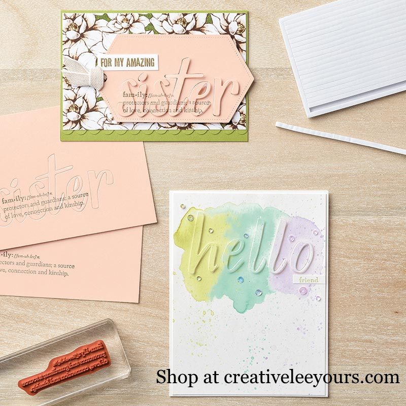 Praise Worthy Prose Bundle, Wendy Lee, stampin up, handmade cards, rubber stamps, stamping, #creativeleeyours, creatively yours, creative-lee yours, friend, celebration, smile, thank you, birthday, congrats, amazing, love, video, DIY, alphabet, letters, #su , #stampinupdemonstrator, #papercrafts , #papercraft , #papercrafting , #makeacardsendacard ,#makeacardchangealife , Praiseworthy Prose stamp set, Hand-Lettered Prose Dies