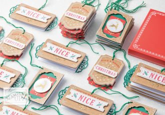 Wendy Lee, Tutorial, Joy of Giving tag kit, stampin Up, SU, #creativeleeyours, hand made, technique, joy of giving stamp set, gold foil, Christmas, friend, celebration, stamping, creatively yours, creative-lee yours, DIY, class, kit, #simplestamping, video