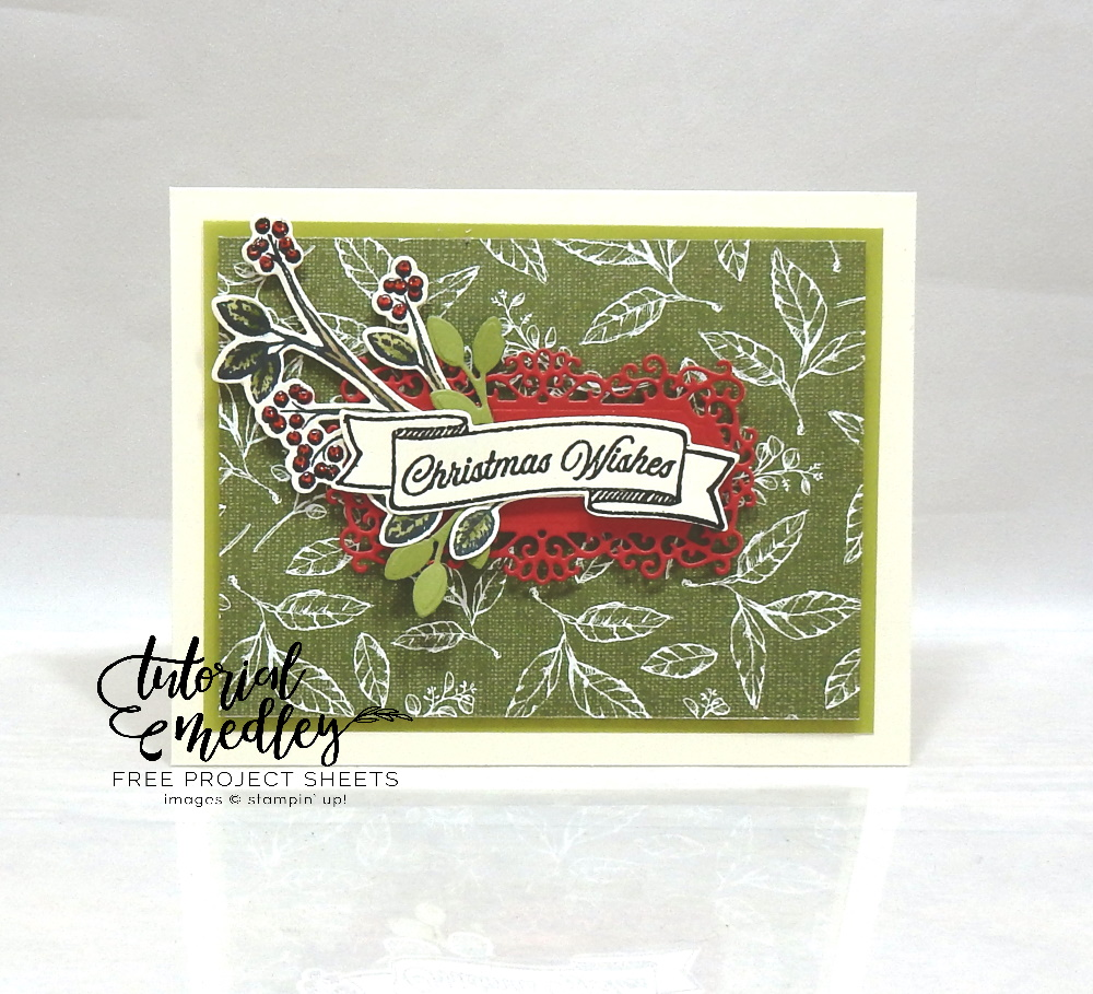 Toile Christmas by Wendy Lee, stampin Up, SU, #creativeleeyours, hand made card, holly, Christmas, friend, stamping, creatively yours, creative-lee yours, toile christmas stamp set, DIY, tutorial medley, ornate frames, christmas cardinal, coloring with blends, patternpaper
