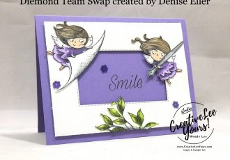 New Wonders Birthday by Denise Eller, new wonders stamp set , Wendy Lee, stampin Up, SU, #creativeleeyours, hand made card, birthday, fairies, friend, celebration, stamping, creatively yours, creative-lee yours, DIY, diemonds team swap, business opportunity, smile, garden