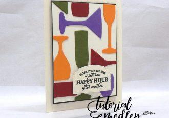 Sip Sip Hooray Birthday by Wendy Lee, stampin Up, SU, #creativeleeyours, hand made card, birthday, congrats, friend, stamping, creatively yours, creative-lee yours, Sip Sip Hooray stamp set, Itty Bitty Birthdays stamp set, DIY, tutorial medley, ornate frames, sip & celebrate dies, glasses, martini, wine, champagne, geometric shapes, paper crafts, heat embossing