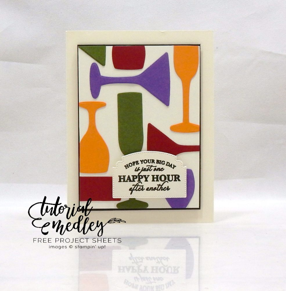 Sip Sip Hooray Birthdayby Wendy Lee, stampin Up, SU, #creativeleeyours, hand made card, birthday, congrats, friend, stamping, creatively yours, creative-lee yours, Sip Sip Hooray stamp set, Itty Bitty Birthdays stamp set, DIY, tutorial medley, ornate frames, sip & celebrate dies, glasses, martini, wine, champagne, geometric shapes, paper crafts, heat embossing