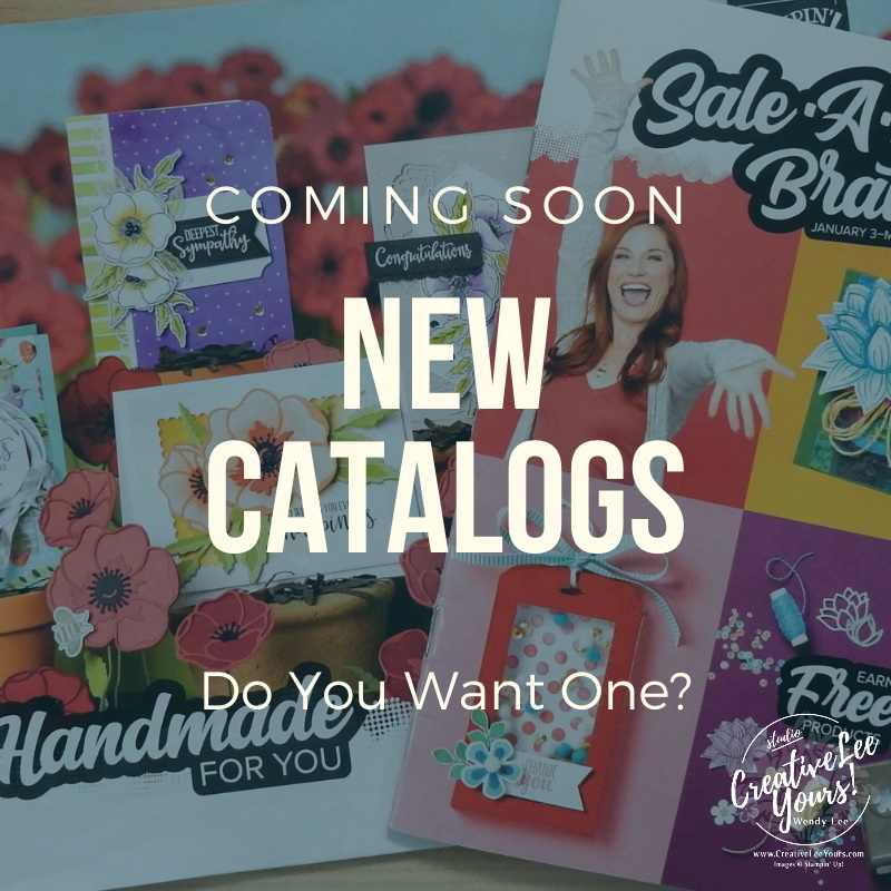 2020 mini catalog, 2020 SAB, Sale-a-bration, new caty, catalogs, designer paper share, ribbon share, Wendy Lee, stampin up, papercrafting, #creativeleeyours, creativelyyours, creative-lee yous, SU, #loveitchopit, #DIY, #crafting, handmade, papercrafts