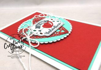 Love you lots by wendy lee, December 2019 Paper Pumpkin Kit, stampin up, handmade cards, rubber stamps, stamping, kit, subscription, #creativeleeyours, creatively yours, creative-lee yours, celebration, smile, thank you, birthday, sorry, thinking of you, love, valentine, congrats, lucky, feel better, sympathy, get well, alternate, bonus tutorial, fast & easy, DIY, card kit, tags tags tags stamp set, be mine, valentine