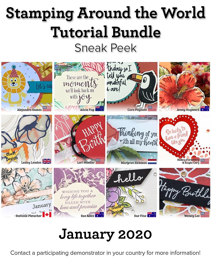 Stamping Around the World Tutorial Bundle, January 2020,blog hop, wendy lee, class, cards, exclusive, #creativeleeyours, creativelee-yours, creatively yours, pattern paper, rubber stamps, Stampin Up, hand made cards, technique, fun fold, DIY, paper crafts