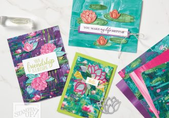 Wendy Lee, stampin Up, SU, #creativeleeyours, handmade card, Lovely Lily Pad stamp set, lily, two sided stamps, lily pad dies, lily impressions, DSP, friend, celebration, stamping, creatively yours, creative-lee yours, DIY, paper crafts, #patternpaper, #SAB, #saleabration, designer paper, video