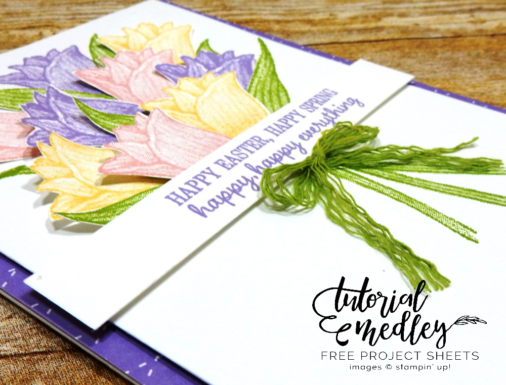 Happy Happy Everything by Wendy Lee, stampin Up, SU, #creativeleeyours, handmade card, Timeless Tulips stamp set, tulip, flowers, bouquet, easter, friend, celebration, stamping, creatively yours, creative-lee yours, DIY, card class, tutorial, paper crafts, tutorial medley, newsletter