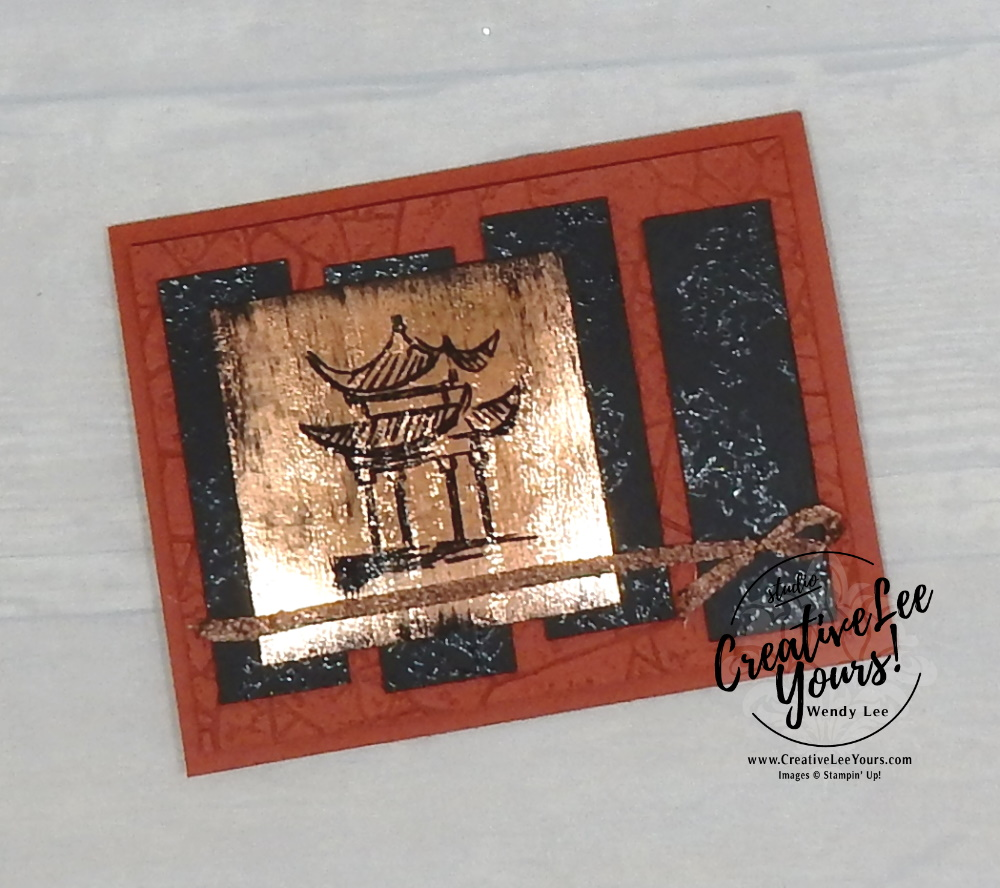 Masculine thank you by Wendy Lee, Tutorial, stampin Up, SU, #creativeleeyours, handmade card, power of hope stamp set, friend, celebration, thank you, thinking of you, stamping, creatively yours, creative-lee yours, DIY, birthday, masculine, black ice, embossing, SAB, saleabration, papercrafts, Chinese, Asian, kylie bertucci, international highlights, vote
