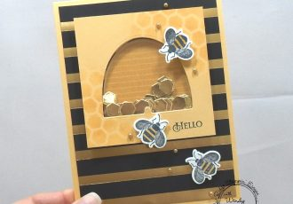 Hello shaker by wendy lee, Blue Ridge Winter Stampin' Escape, retreat, class, online, winter blues, stamping, SU, patternpaper, creativeleeyours, creative-lee yours, creatively yours, DIY, handmade, rubber stamps, bundle, tutorial, #patternpaper, virtual class, bundle, class kit, honey bee stamp set, timeless tulips stamp set, papercrafts, 3D, treats, cards, tags, #su , #stampinupdemonstrator, #papercrafts , #papercraft , #papercrafting , #makeacardsendacard ,#makeacardchangealife